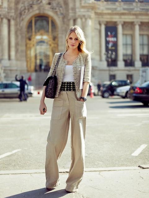 Paris Streetstyle W Chanel Jacket Spintosguru Flickr