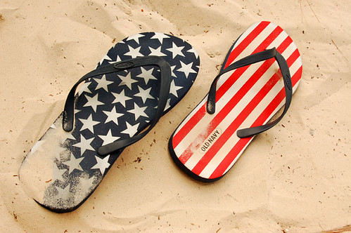 stars and stripes flip flops | by Chewy Chua