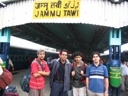 In Jammu Tawi station