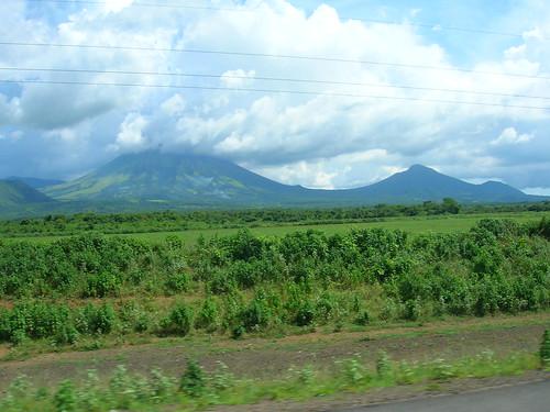 Nicaraguan landscape from Bus en route