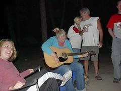 Tasha playing guitar