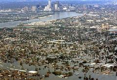 洪水中的New Orleans
