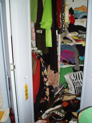 a closet that must be dealt with