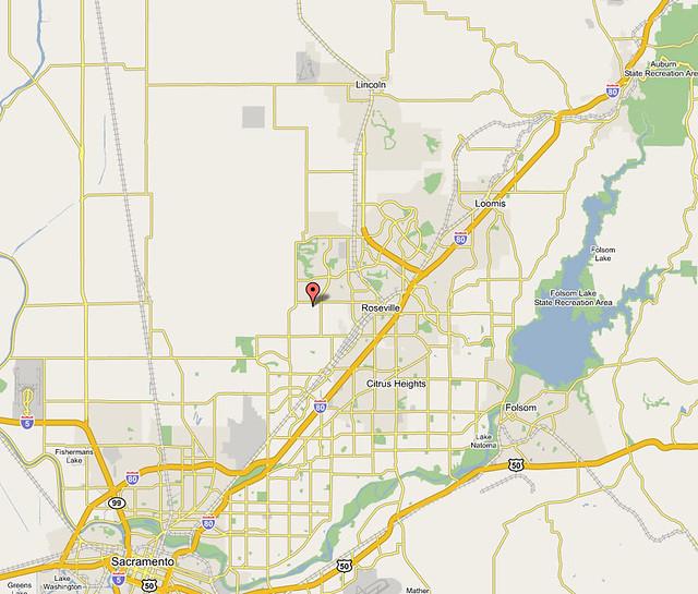 Map Of California Google.Google Map Of Roseville California Discovering Roseville C Flickr