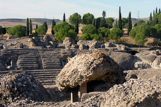 Amphitheatre at Italica, Andalucia, Spain, 25 September 2005   by PhillipC