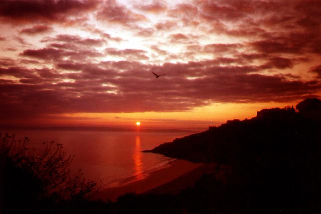 Sunrise over Porthminster Beach