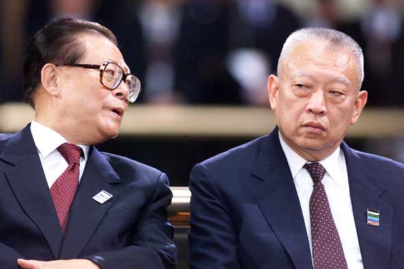 Jiang Zemin and Tung Chee Hwa 江澤民與董建華