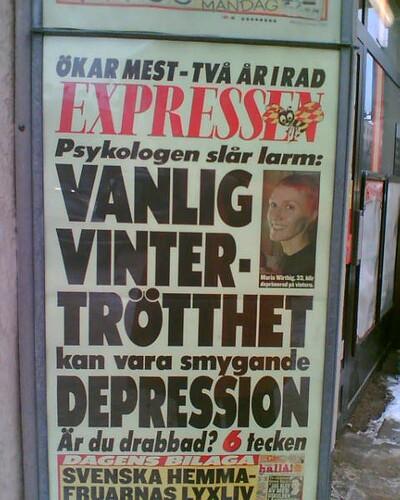 Smygande DEPRESSION kan vara VANLIG vintertrötthet | by Blind Hen ⁑ Blind Höna