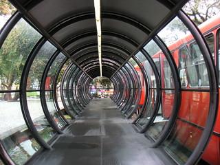 Bus stop waiting tube, Curitiba