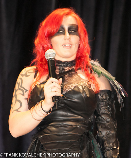 Emcee at the CosPlay fashion show
