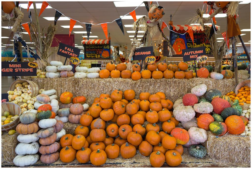 'Halloween' is in aantocht ... dus overal pompoenen te koop ...
