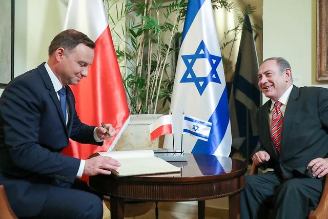Prezydent Andrzej Duda i premier Benjamin Netanjahu