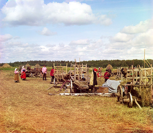 Haymakers about halting, 1909 | by Sergey Prokudin-Gorsky