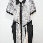 051005)连衣裙SML 浅黄 灰色S长85 胸88 (7)