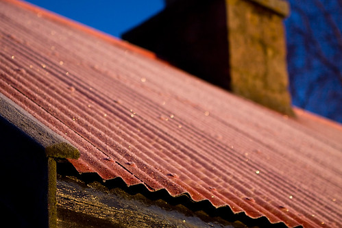 roof chimney sunrise scotland flickr frost aberdeenshire meetup loch corrugated bothy deeside burnovat dinnet kinord