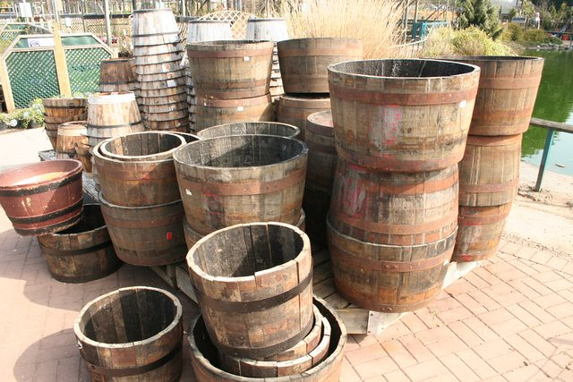 Wooden Garden Tubs Made From Barrels This Garden Image Is Flickr