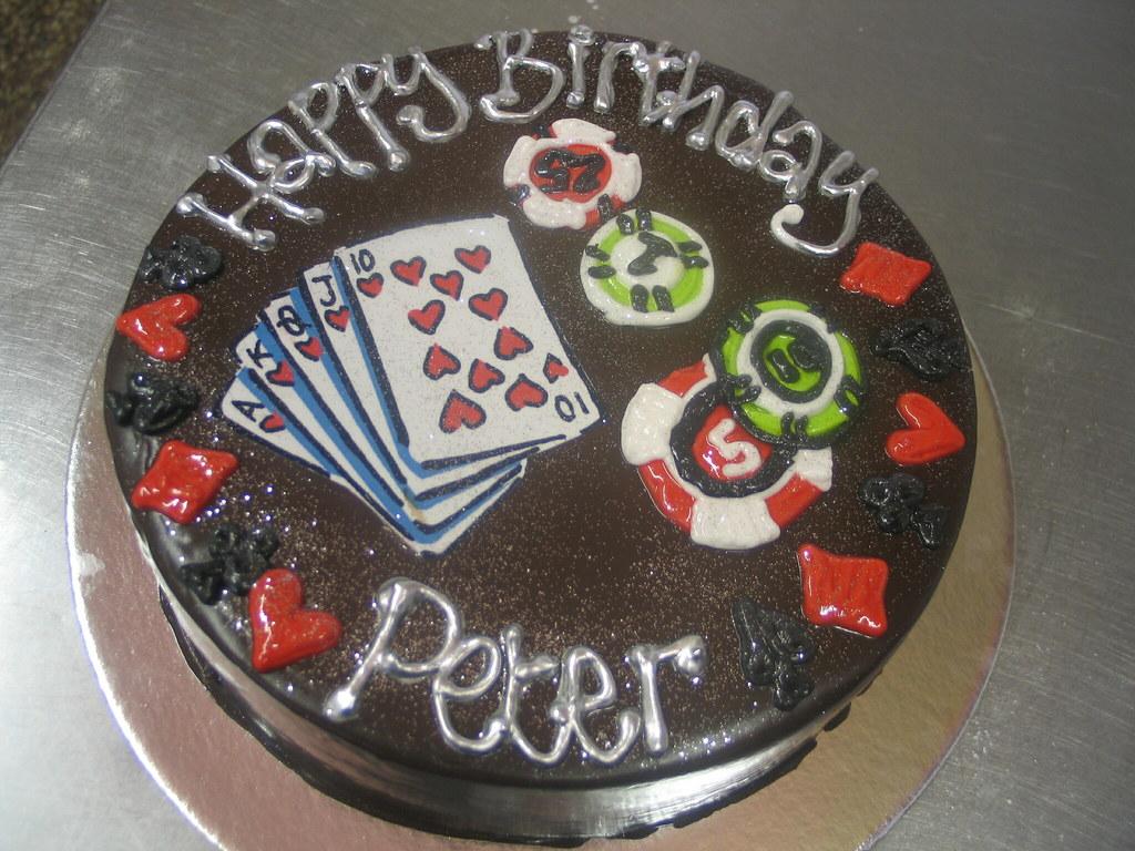 Fabulous Poker Birthday Cake Charlys Bakery Flickr Funny Birthday Cards Online Unhofree Goldxyz