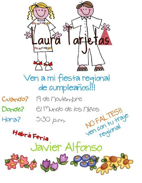 Invitacion Mestizos Invitación Fiesta Regional Laura