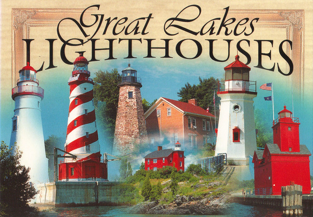 Great Lakes Lighthouses Postcard