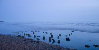 Remains of the Royal Suspension Chain Pier, Brighton   by Dominic's pics
