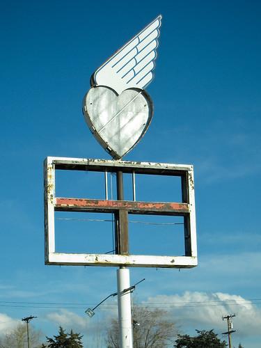 california road abandoned sign heart decay winged tehachapi brokenheart kagoldberg sd870is myfaves1