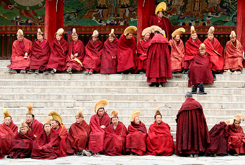 Xiahe, monastery, monks | by gill_penney