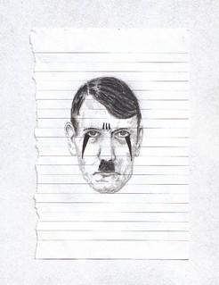 Zavier Ellis 'Mad Genius Clown #2', 2006 Pencil, ink on paper 14.8x10.7cm