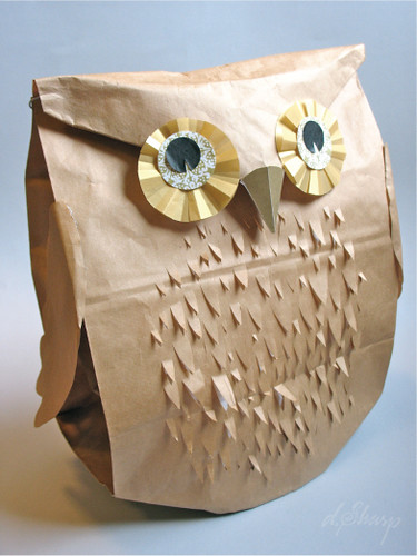 Owl Paper Bag Puppet Craft for Kids - Buggy and Buddy | 500x375