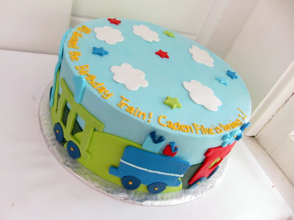 Superb Train Birthday Cake Polkadots Olga Flickr Birthday Cards Printable Benkemecafe Filternl