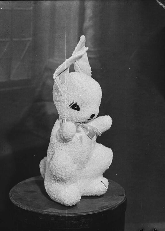 "Toy rabbit (taken for ""Smith's Weekly""), Sydney, 1945 / Sam Hood"