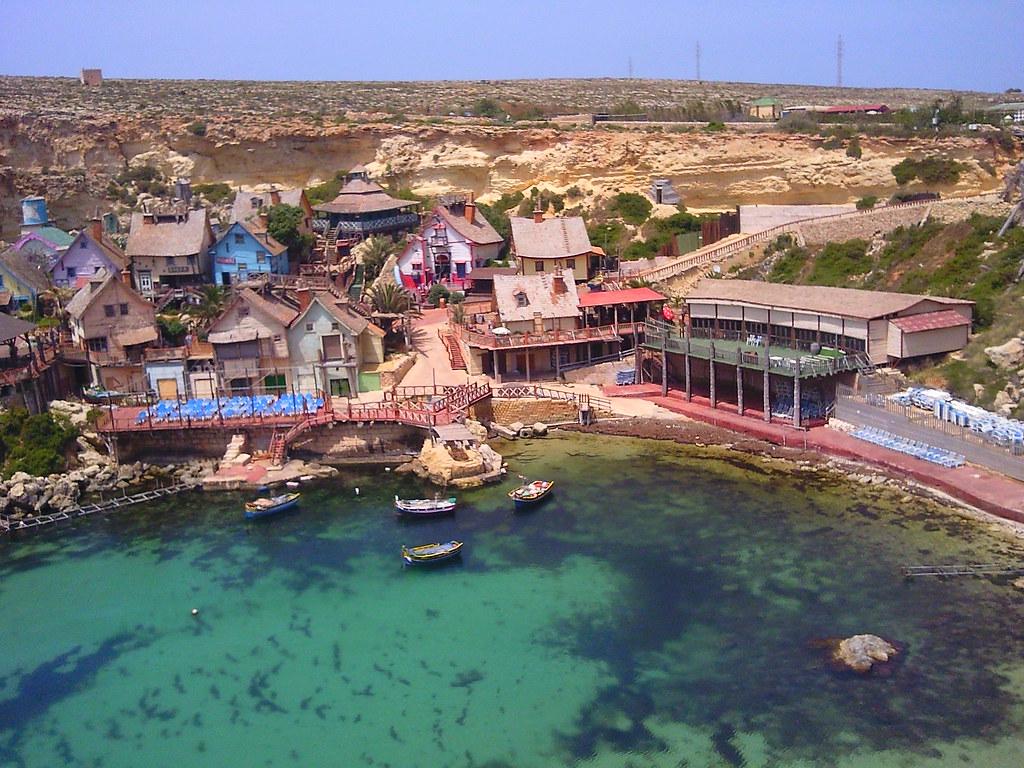 Popeye Village at Anchor Bay in Malta