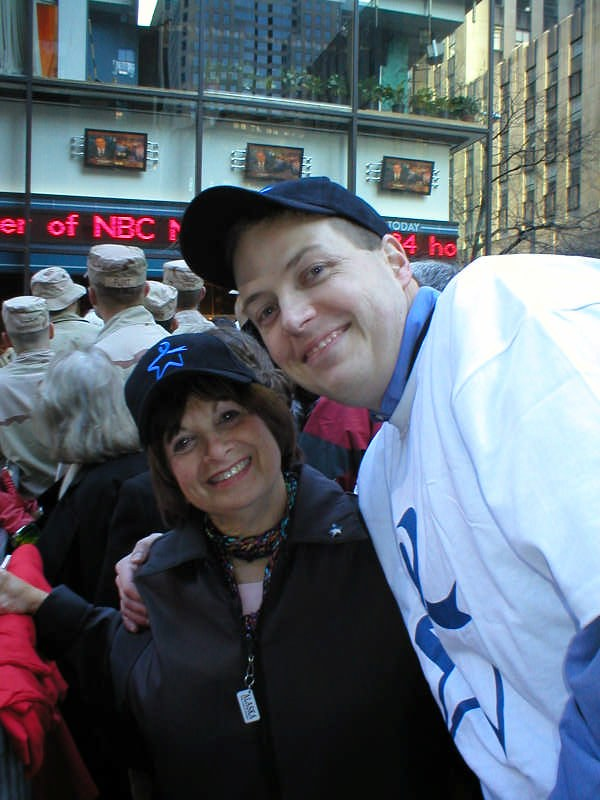 Blue Star At The Today Show In 2004 Dale Mintz Of Hadassah Flickr