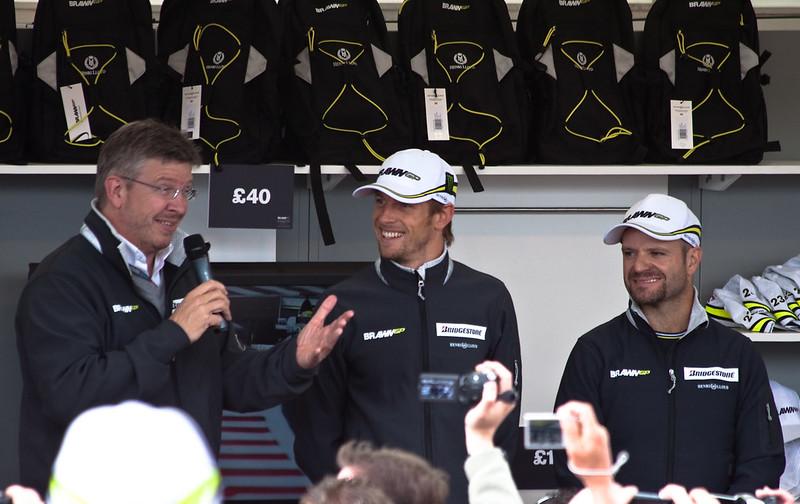 Silverstone 2009: Brawn, Button & Barrichello