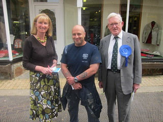 War Veteran Paul Conway with Sarah and Tom King | by Totnes Conservatives