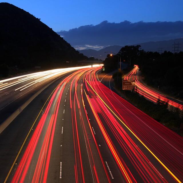 Traffic Trails on the I-5