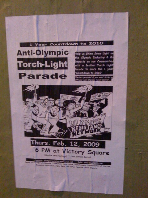 Anti-Olympic Torch-Light Parade