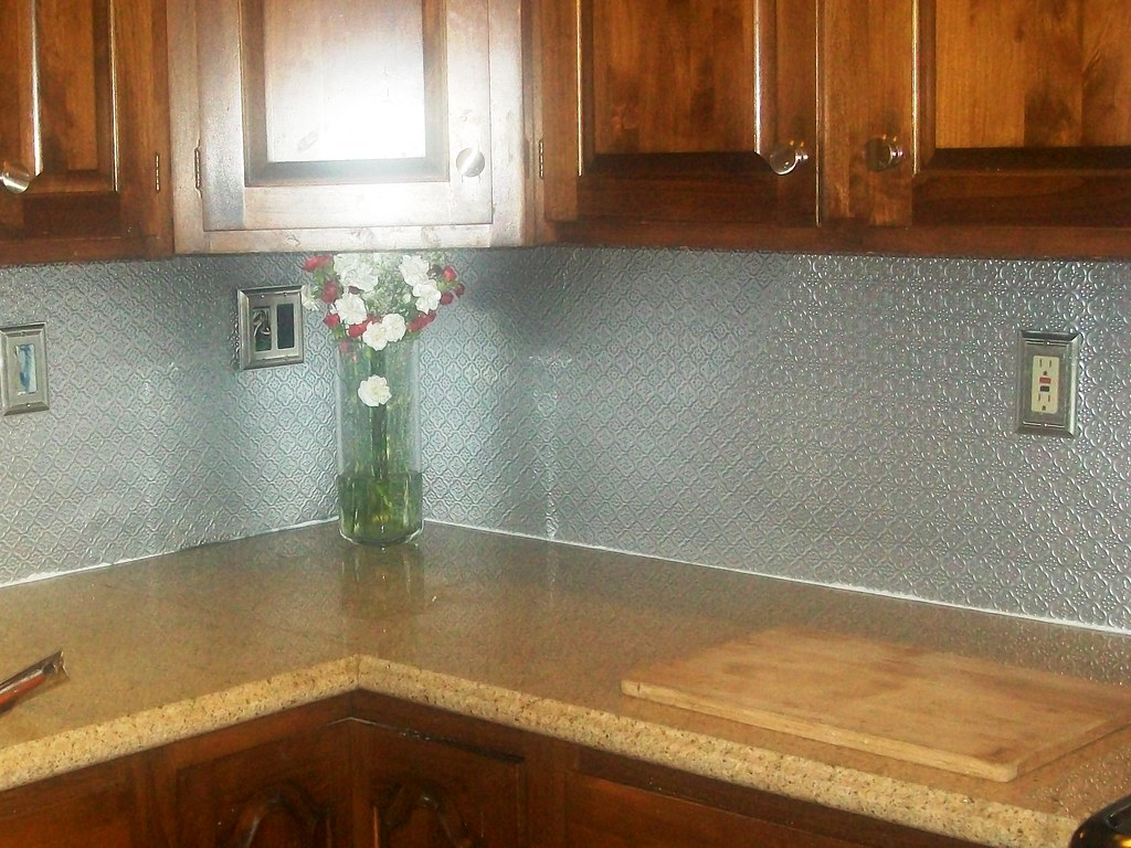 - Faux Tin Backsplash Roll (TalissaDecor.com) WC20 Stainless… Flickr