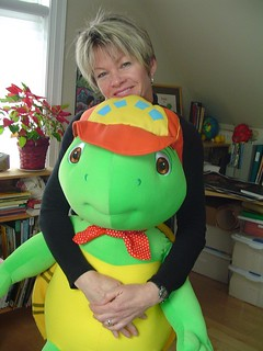 Brenda with Franklin the Turtle