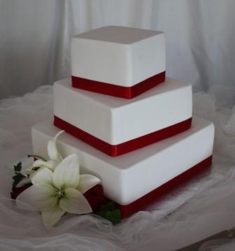 Red Velvet Wedding Cake.Red Velvet Wedding Three Tier Red Velvet Cake Filled With