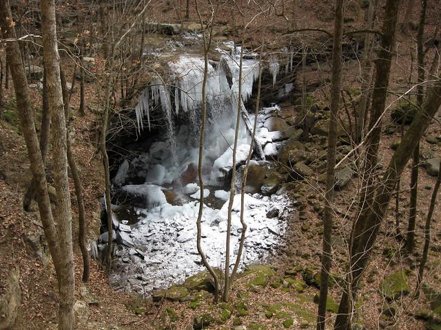 Big Laurel Falls, Big Laurel Creek Cave, Virgin Falls State Natural Area, White Co, TN