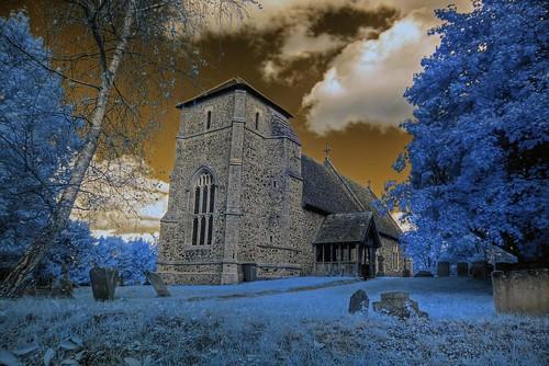 Infrared HDR St Nicholas church Stanningfield Suffolk | by Brokentaco