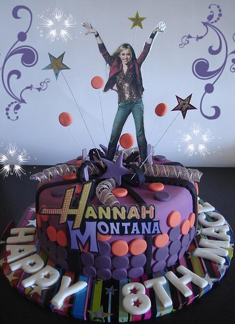 Marvelous Hannah Montana Birthday Cake A Huge Hannah Montana Fan Flickr Birthday Cards Printable Inklcafe Filternl
