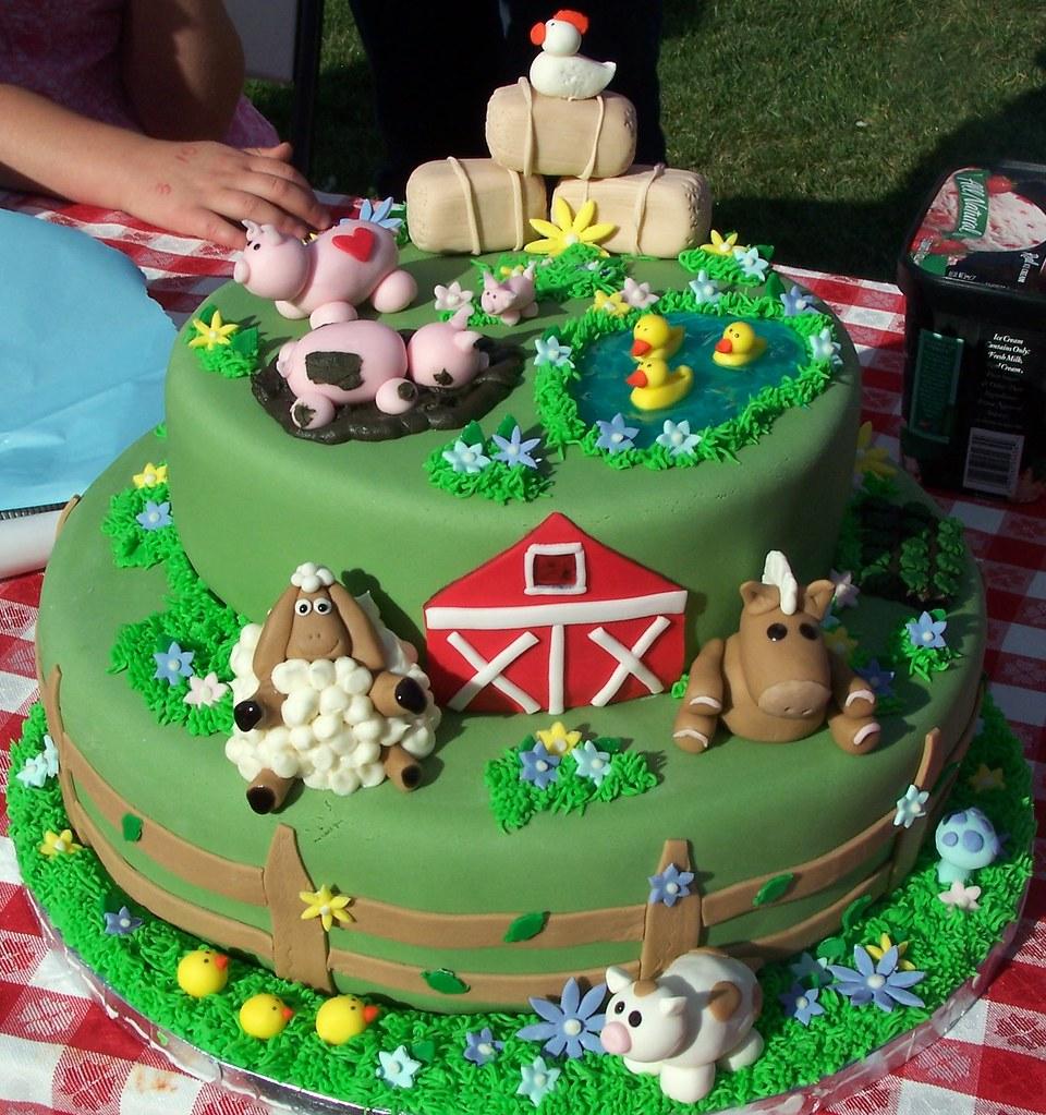 Fine Farm Animal Birthday Cake One Of My Favorites Made This F Flickr Funny Birthday Cards Online Alyptdamsfinfo