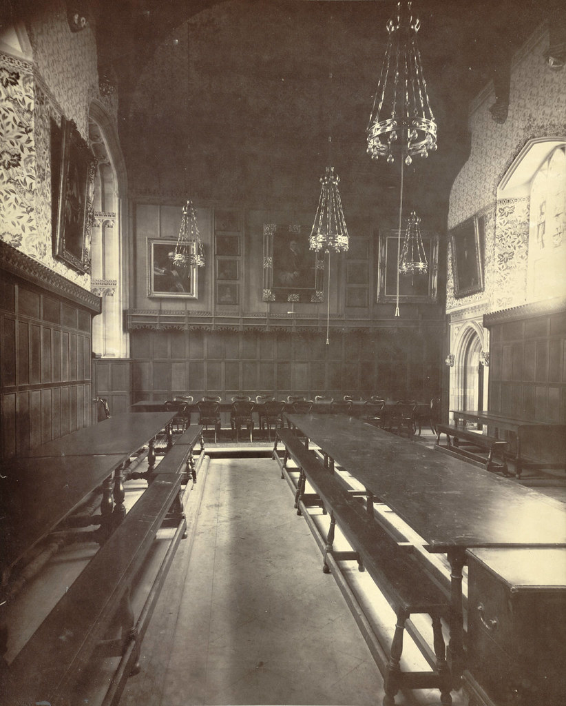 CAMBRIDGE PETERHOUSE DINING HALL INTERIOR AFTER REDECO FLICKR