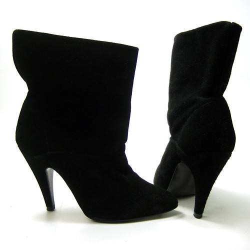 d0d7c1425c7b8 VINTAGE 1980's Black Suede Ankle BOOTS... High Spike Heel,…   Flickr