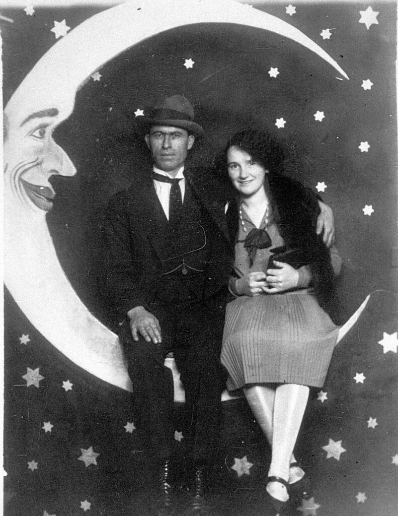 Margaret Ballardini & Fred Watson, Luna Park, St Kilda, Victoria, ca. 1927 / photographed by M D True, Electric Studio
