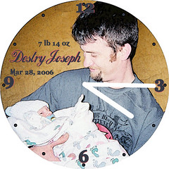 Destry Birth Announcement Clock | by customclockface
