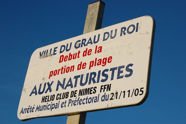 Nudist Beach Warning