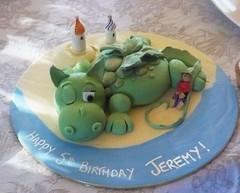 Puff the Magic Dragon Cake  by Sugarbloom Bev