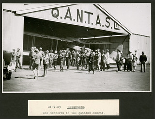 """'The flight of the """"Canberra"""", April 1929' – Longreach"""